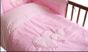 MDSS Nursery Cot/ Cot Bed Pillowcase + Duvet cover 135x100cm PINK