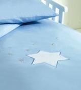 Saplings Blue Twinkle Star Cot / Junior Bed Duvet Cover & Pillow Case Set