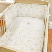 Baby Bear Cream Brown Cot Quilt and Bumper Set
