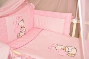 MDSS Baby Nursery Bedding Bumper Only To Fit Cot Bed 140X 70Cm Pink