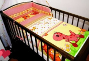 3 PCs BABY NURSERY BEDDING SET/bumper DUVET Cover/Pillowcase to fit Cot Bed