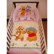 Disney Winnie & Tigger Bedding Set for Cot or Cotbed Pink