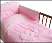 MDSS 5 Pcs Baby Bedding Set/Bumper To Fit Cot 120X 60Cm Pink