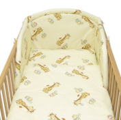 6 Pcs Baby Cot Bed Bedding, 190cm Padded Thick Bumper + Terry Sheet, 140x70 cm - Pattern 12