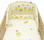 6 Pcs Baby Cot Bed Bedding, 190cm Padded Thick Bumper + Terry Sheet, 140x70 cm - Pattern 7