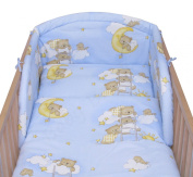 6 Pcs Baby Cot Bed Bedding, 190cm Padded Thick Bumper + Terry Sheet, 140x70 cm - Pattern 4