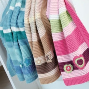 Clair de Lune - Natural Multi Stripe Knitted Pram Blanket