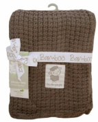 Luxury Designer Bamboo Knitted Baby Blanket - Chocolate