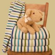 Multi Stripe Lambswool Baby Blanket Boy