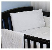 Cot Bed Pillow Case 100% Cotton White