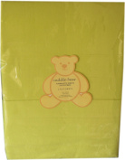 Cuddle Bear 2 Flat Flannelette Cot / Cotbed Sheets 120x150cms 100% Cotton Lime Green