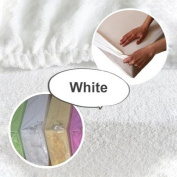 Terry Towelling Fitted Sheet 120x60 To Fit Nursery Baby Cot/ Cot bed Bedding Mattress - White