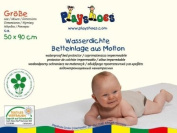 Playshoes 50 x 90cm Molton Mattress Protector Waterproof and Breathable Oeko-Tex Standard 100