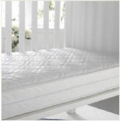 KATY® Bound Sprung Cot Bed Mattress Superior Quality - Bound Seamed Edges Best For Fitted Sheets-140x70-10CM THICK British Made With High Grade Density Foam CMHR28