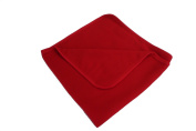 BabywearUK Red fleece baby blanket
