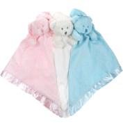 Soft Velour White Teddy Comforter