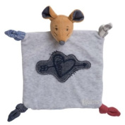 Kaloo - Blue Denim DouDou Mouse Sweetheart - Comforter Blanket