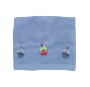 Lollipop Lane Fish and Chips Knitted Blanket