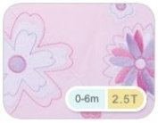 The Dream Bag Pink Baby Sleeping Bag Little Flowers 0-6 Months 2.5 Tog