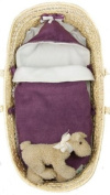 Tuppence and Crumble Soft Fleece Heather Nap-Sack 0-6 months