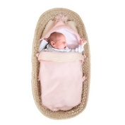 Tuppence and Crumble Soft Fleece Baby Pink Nap-Sack 0-6 months