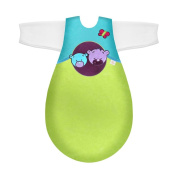 Câlin Câline Lilou 405.27.00 Babies' Sleeping Bag with Sleeves and Emergency Nappy 70 cm Grape / Blue / Aniseed Green