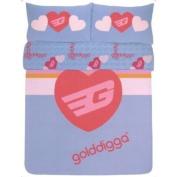 Golddigga DOUBLE Bed Bedding Duvet/Quilt Cover Set