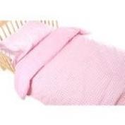 Saplings Pink Gingham Bedding Set