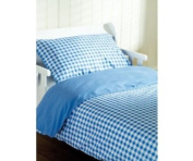 Saplings Cot Bed Duvet Cover And Pillowcase - Blue Gingham