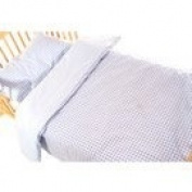 Saplings Blue Gingham Bedding Set