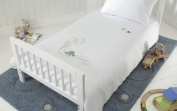 Baroo Lily Pad Friends Cot Bed Duvet Set in Oxford White