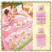 """Bierbaum Wohnen 2239_01 Renforcé Children's 135 x 200 cm Licenced Bed Sheet Set """"Princess Lillifee"""" Pink"""