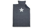 Baby Boum 100% Luxury Cotton Single Bed Duvet Cover and Pillow Case with 3D Metallic Star Appliqué