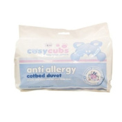 Cosy Cubs Cot Bed Duvet 9 Tog Anti Allergy Filling- 120 x 150 cm with Cot Bed Pillow