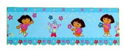 Dora The Explorer Blue Wall Border