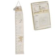 Gorgeous Button Corner Bear Fabric Photo Height Chart