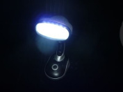 PK Green Desk Lamp With 12 Superbright LED 120 Degree Rotating Head Battery Operated