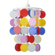 Children's Bedroom/Nursery Multi Coloured Polka Dot Spots Ceiling Pendant Light Shade