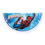 Dalber 31608B Wall Appliqué Spiderman Half-Moon Glass and White Metal