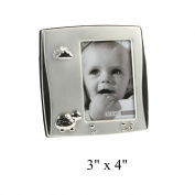 Juliana 2 Tone Silver Plated Photo Frame - Tortoise 7.6cm x 10cm