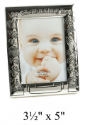 Antique Silverplated Christening Day Photo Frame