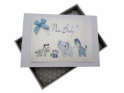 White Cotton Cards New Baby Photo Album