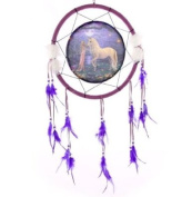 Dreamcatcher Fantasy Unicorn and garden Diameter 34 cm