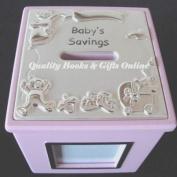 Baby Girl Photo Frame Money Box