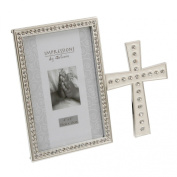 Silverplated Photo Frame with Cross 10cm x15cm