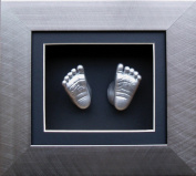 Anika-Baby BabyRice 15cm x 13cm Baby Casting Kit with Brushed Pewter 3D Effect Box Display Frame