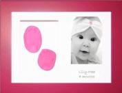 BabyRice New Baby Girl Gift Handprint Footprint Imprints Mould Kit Pink Box Display Photo Frame & Soft Clay Dough