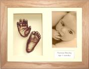 BabyRice 29cm x 22cm Baby Casting Kit, Solid Oak 3D Box Frame