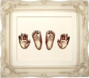 Large Baby Casting Kit with 29cm x 24cm Cream Vintage Shabby Chic Rococo effect Frame / Bronze Metallic Paint by BabyRice