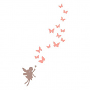 Fairies and butterflies wall sticker by Stickerscape (Regular size) - 23cm x 41cm - Part of the Fairy Princess collection